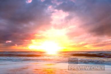 Ocean Sunset Video Loop Worship