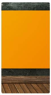 Orange Wall Banner Widget