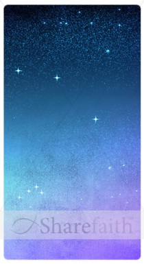 Night Sky and Stars Banner Widget