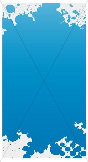 Blue Splash Banner Widget