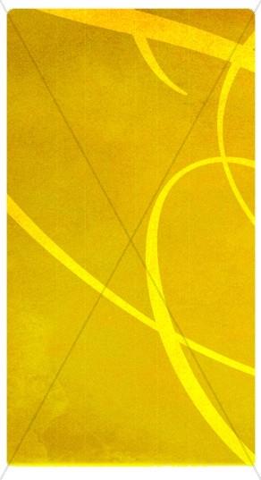 Yellow Swirls Banner Widget