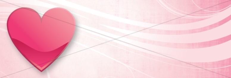 Pink Heart Website Banner