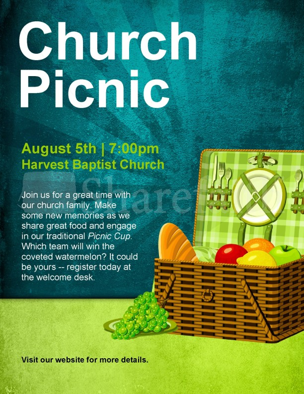 Church Picnic Flyer Templates Images Template Design Ideas