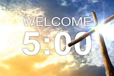Worship Countdown Timer Five Minutes