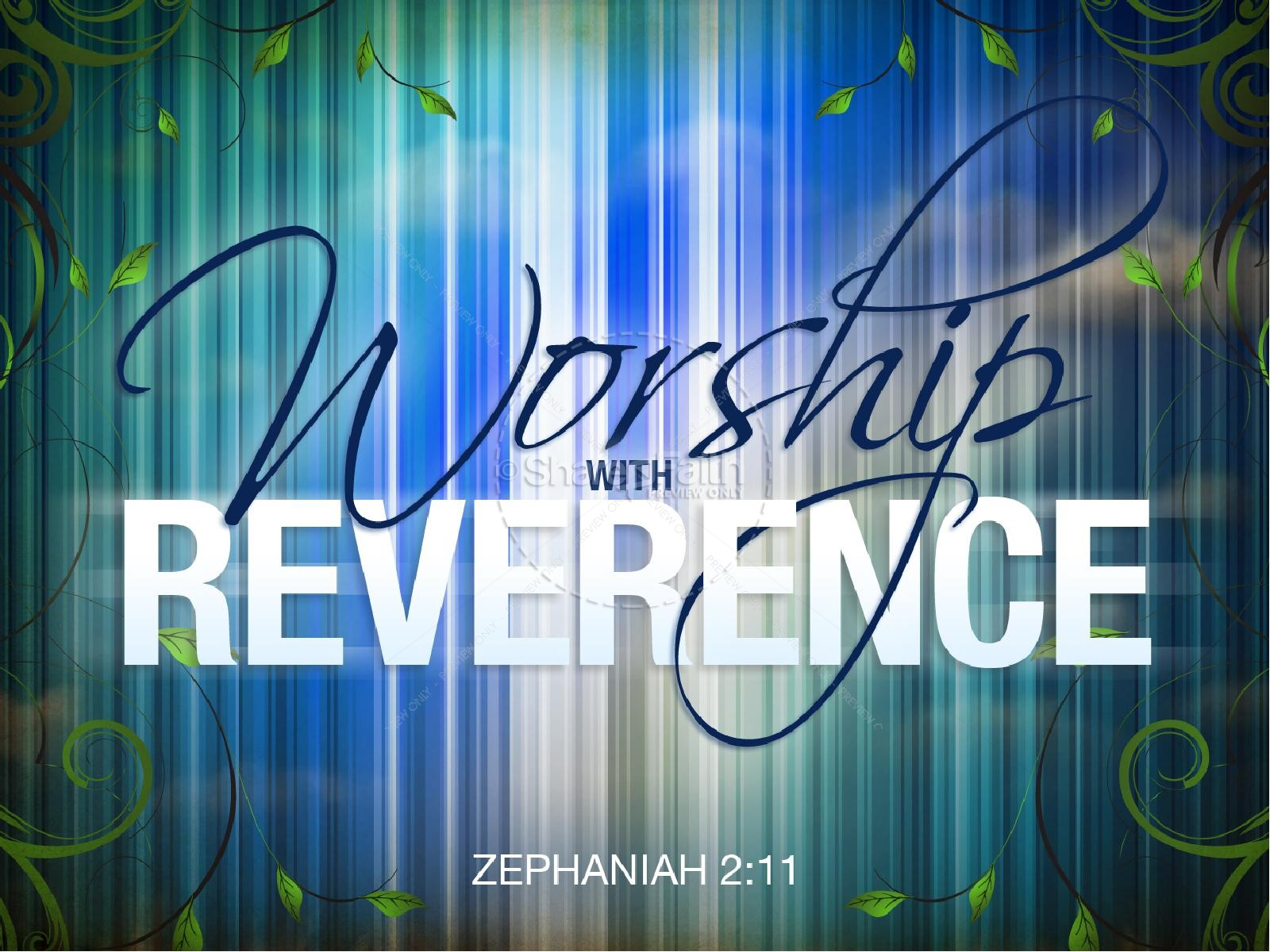 Worship with Reverence Sermon PowerPoint | slide 1
