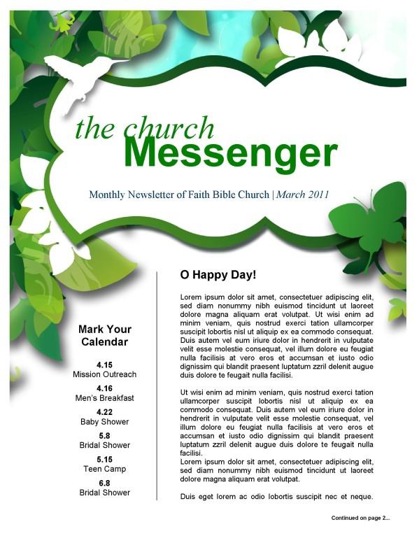 Green Leaves Church Newsletter