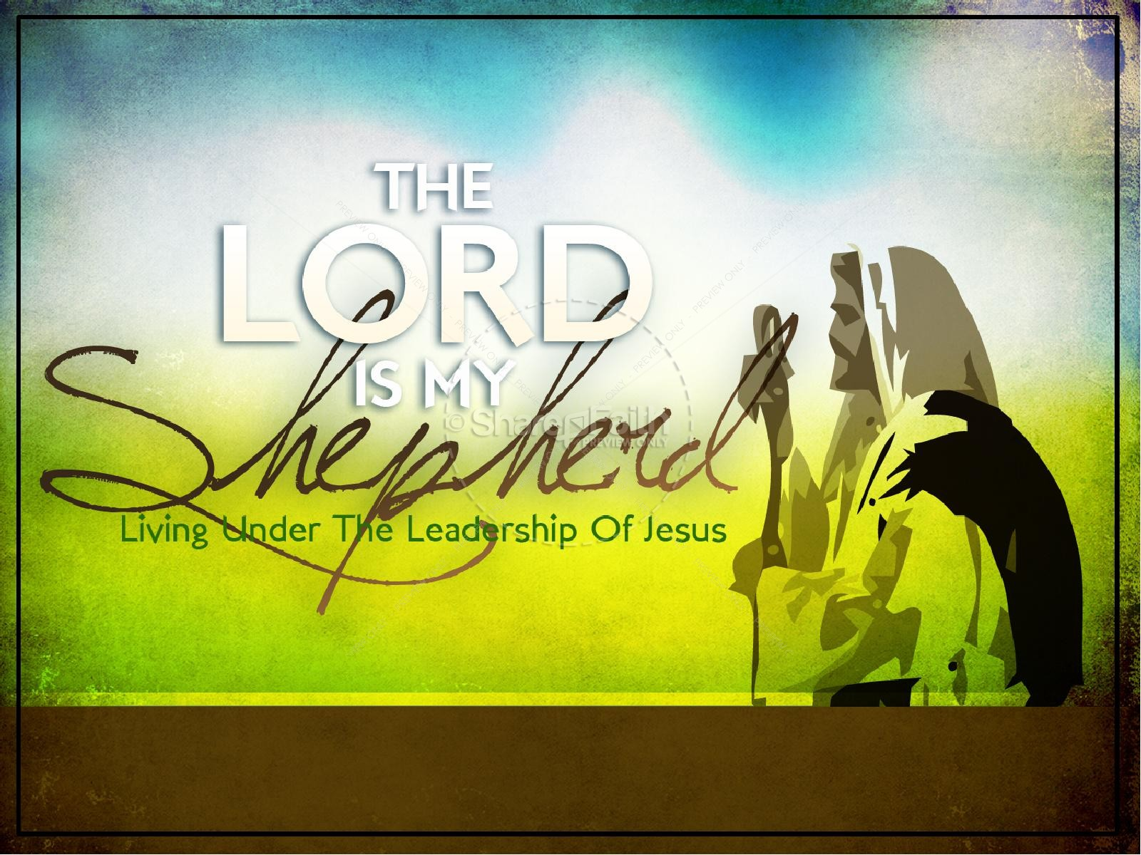 The Lord Is My Shepherd Church PowerPoint | slide 1