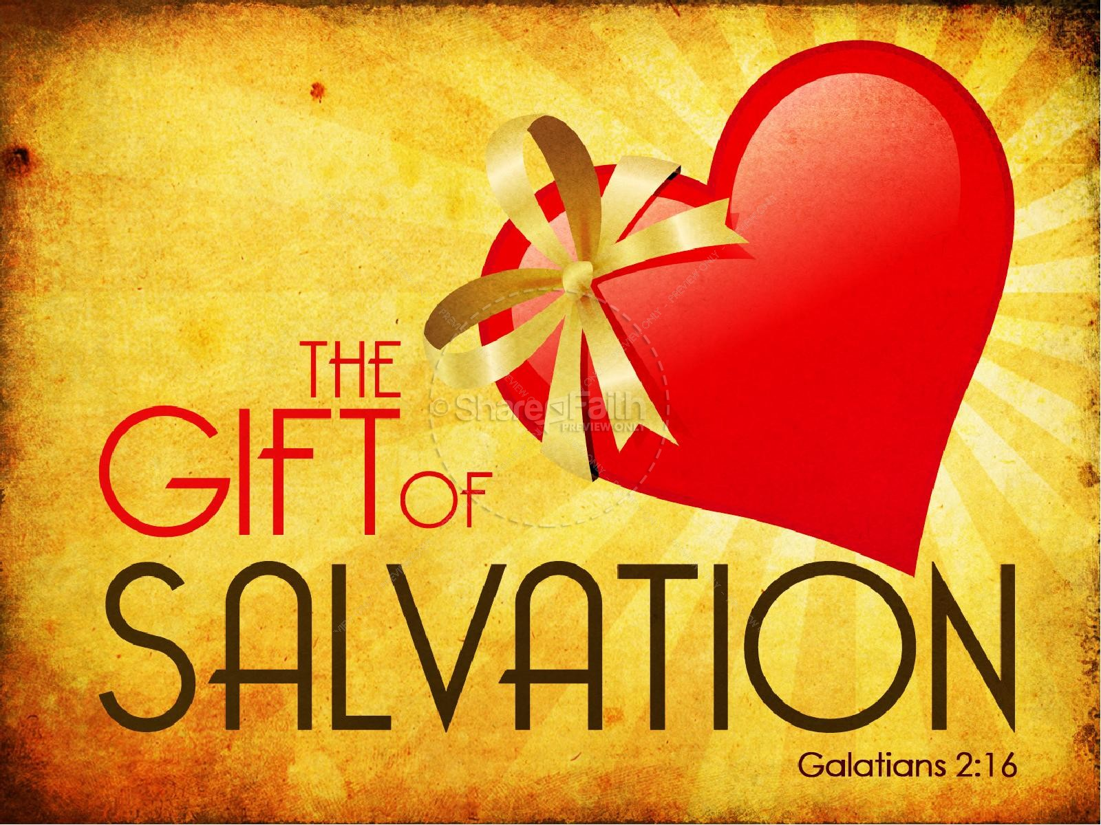 The Gift Of Salvation Powerpoint Sermon Powerpoint Sermons