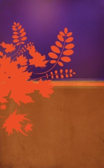 Fall Bible Study Bulletin Cover Template