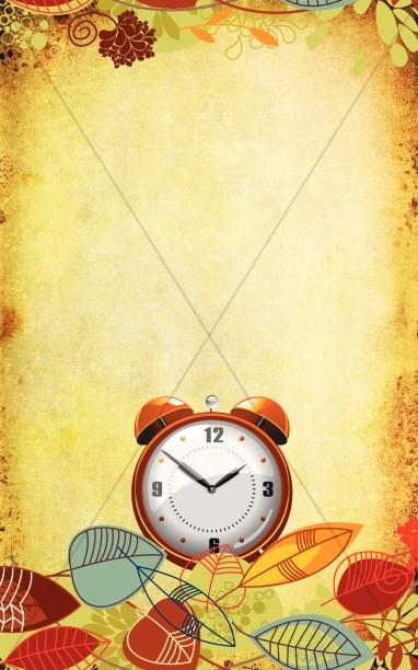 Daylight Savings Time Church Program Template