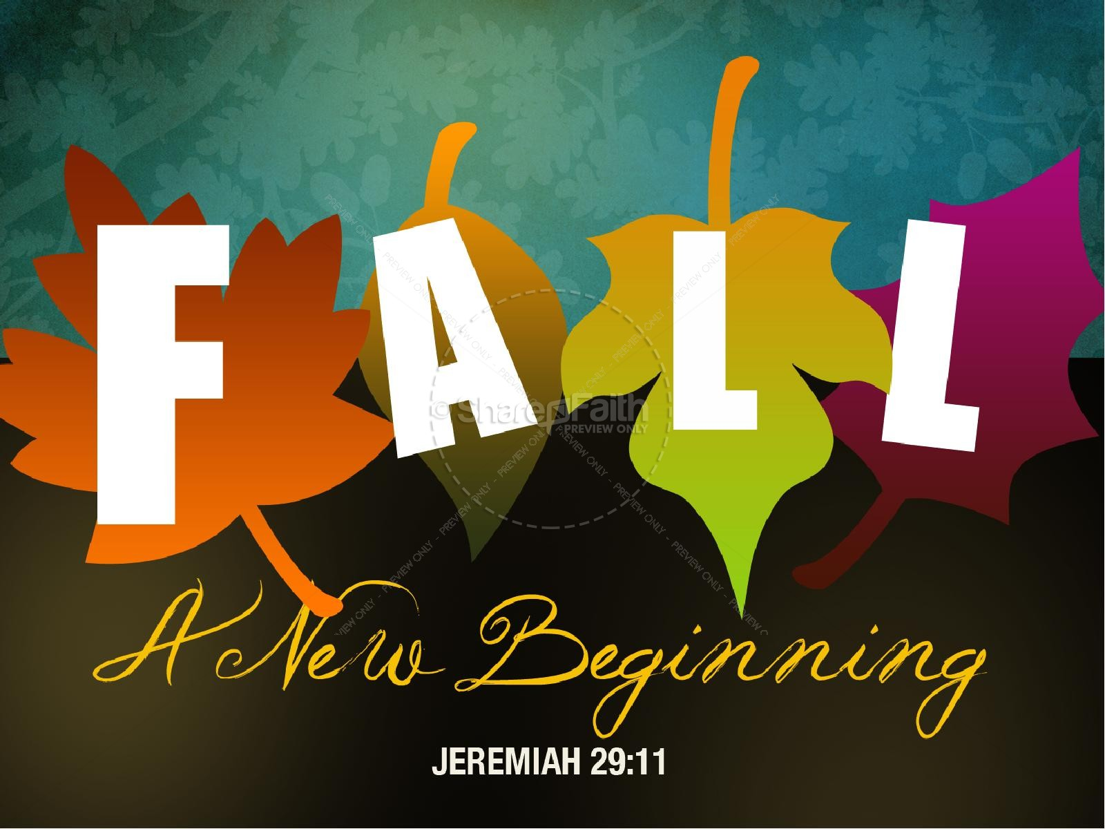 Fall:  A New Beginning PowerPoint