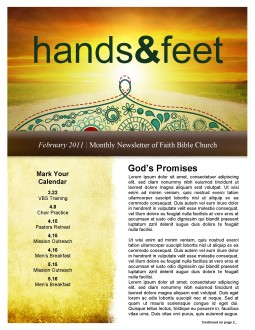 Sunset Newsletter Template