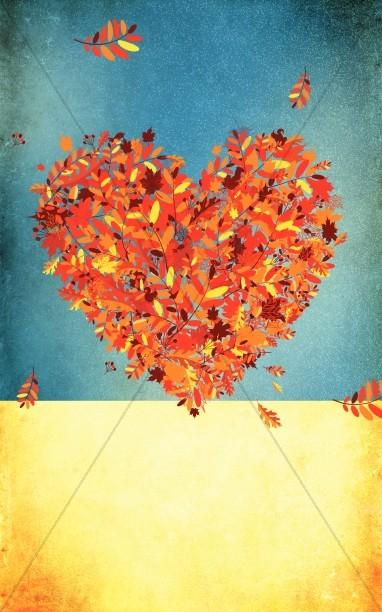 Love Fall Leaves Bulletin Cover