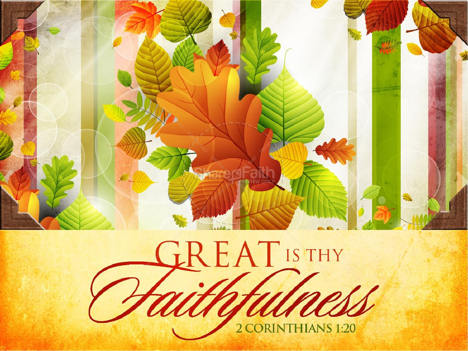 Great Is Thy Faithfulness Fall