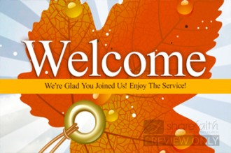 Fall Leaf Welcome Video
