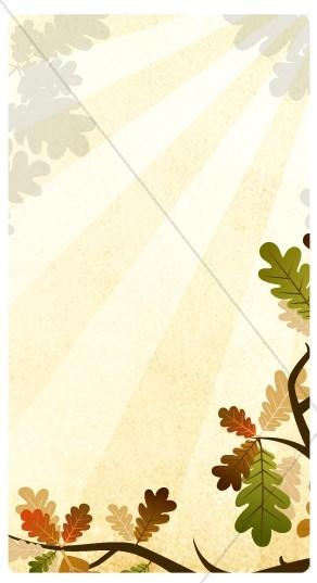Oak Leaves Website Sidebar