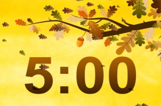 Fall Leaf Video Countdown Loop