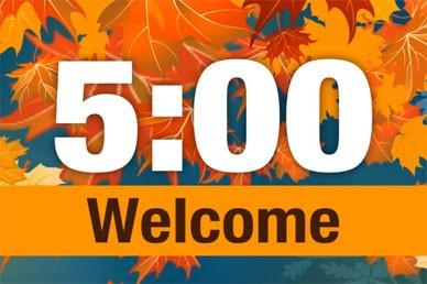 Fall Countdown for Church