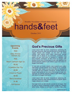Fall Designs and Decorations Church Newsletter
