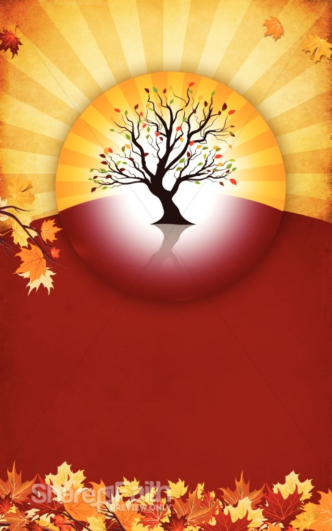 Autumn Tree Bulletin Template