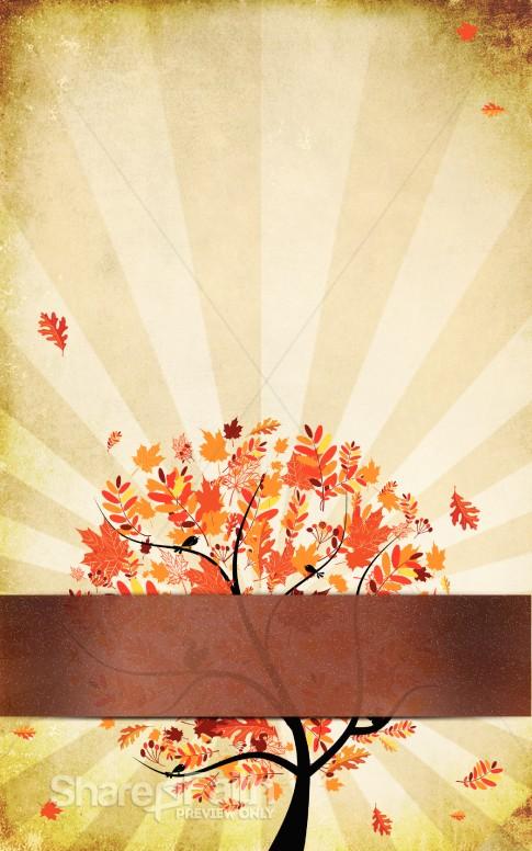 Orange Leaves Fall Bulletin Template