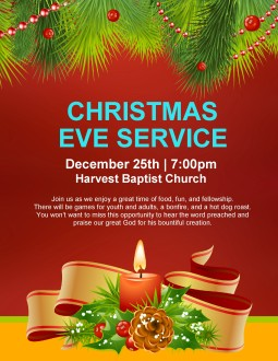 Christmas Eve Service Flyer