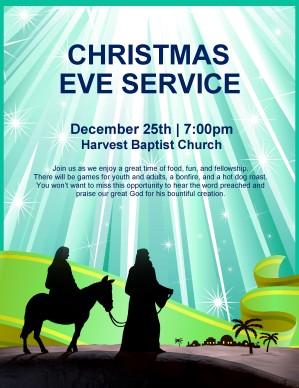 Nativity Flyer Christmas Eve Service Template Flyer