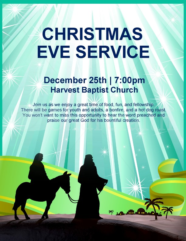 Nativity Flyer Christmas Eve Service