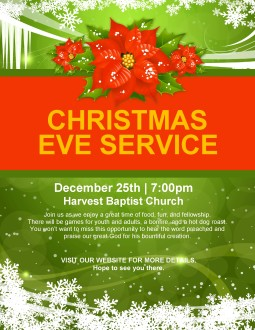 Holiday Christmas Flyer