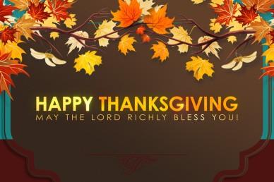 Happy Thanksgiving Leaves Video Loop