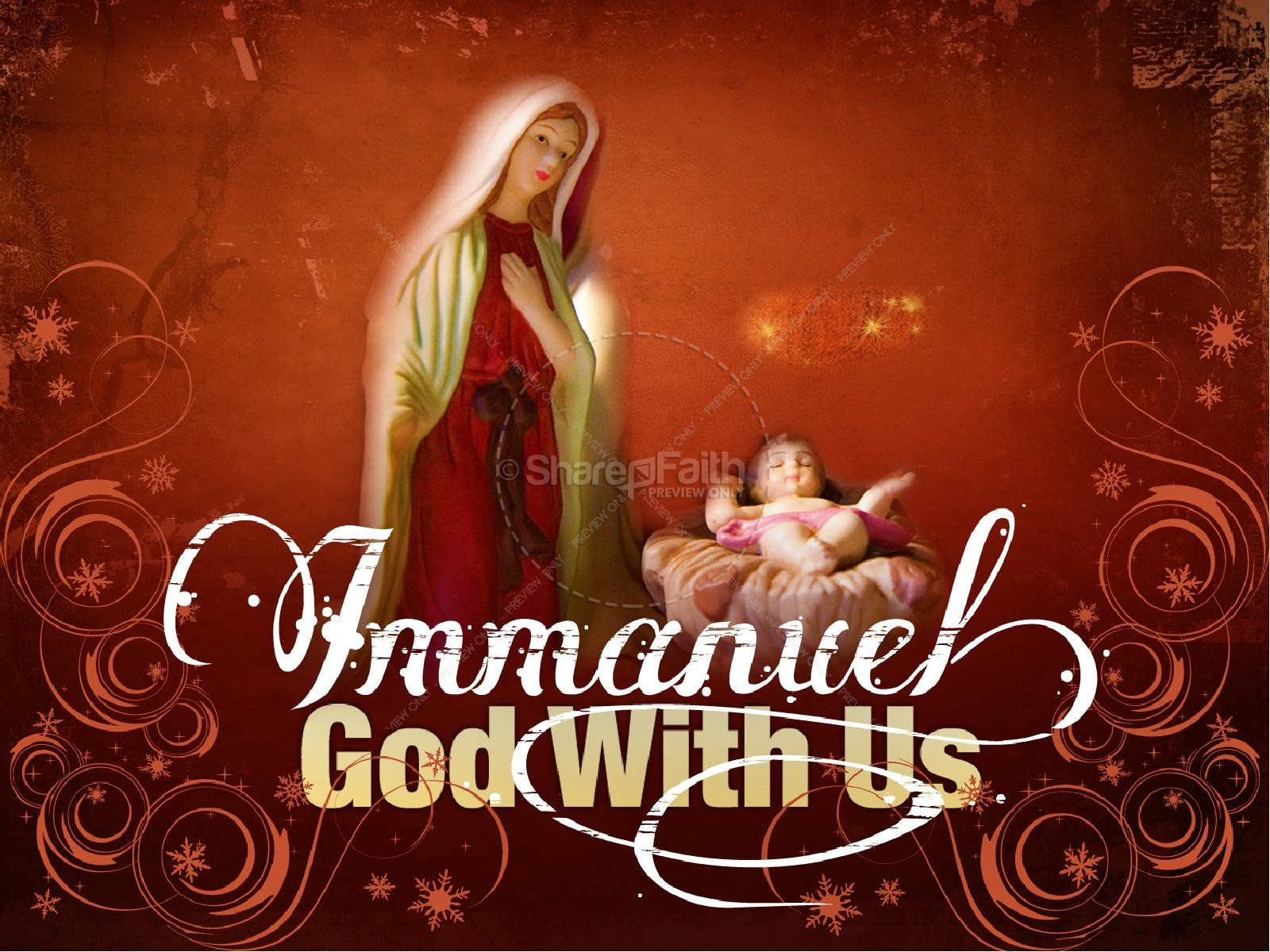 Immanuel God With Us PowerPoint | slide 1