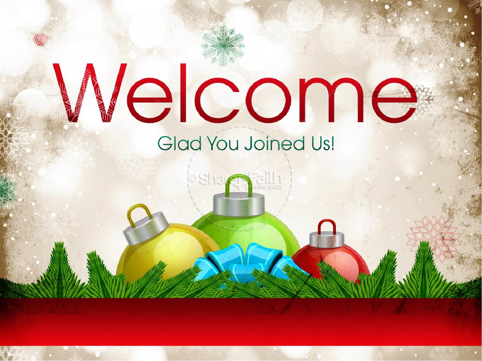 Merry Christmas Church PowerPoint Template