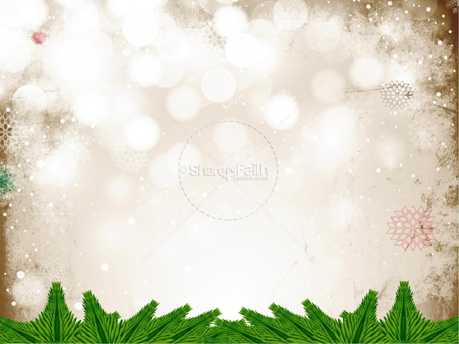 Merry christmas church powerpoint template for Free christmas powerpoint templates