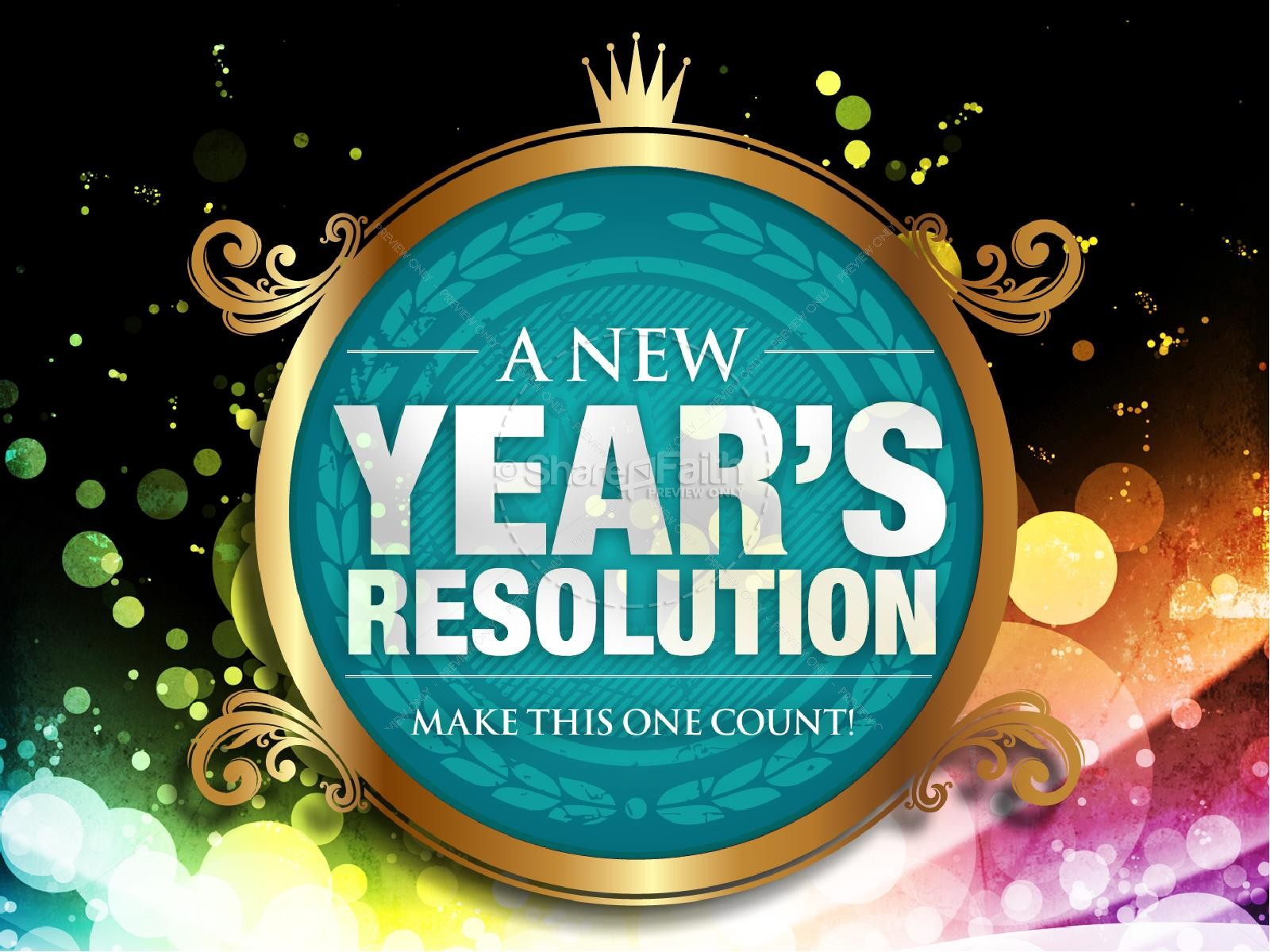 New Year Resolution Church PowerPoint