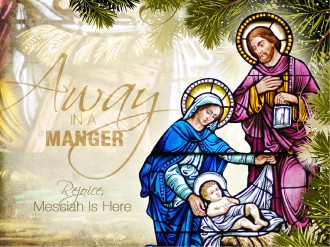 Away In a Manger Church PowerPoint Template