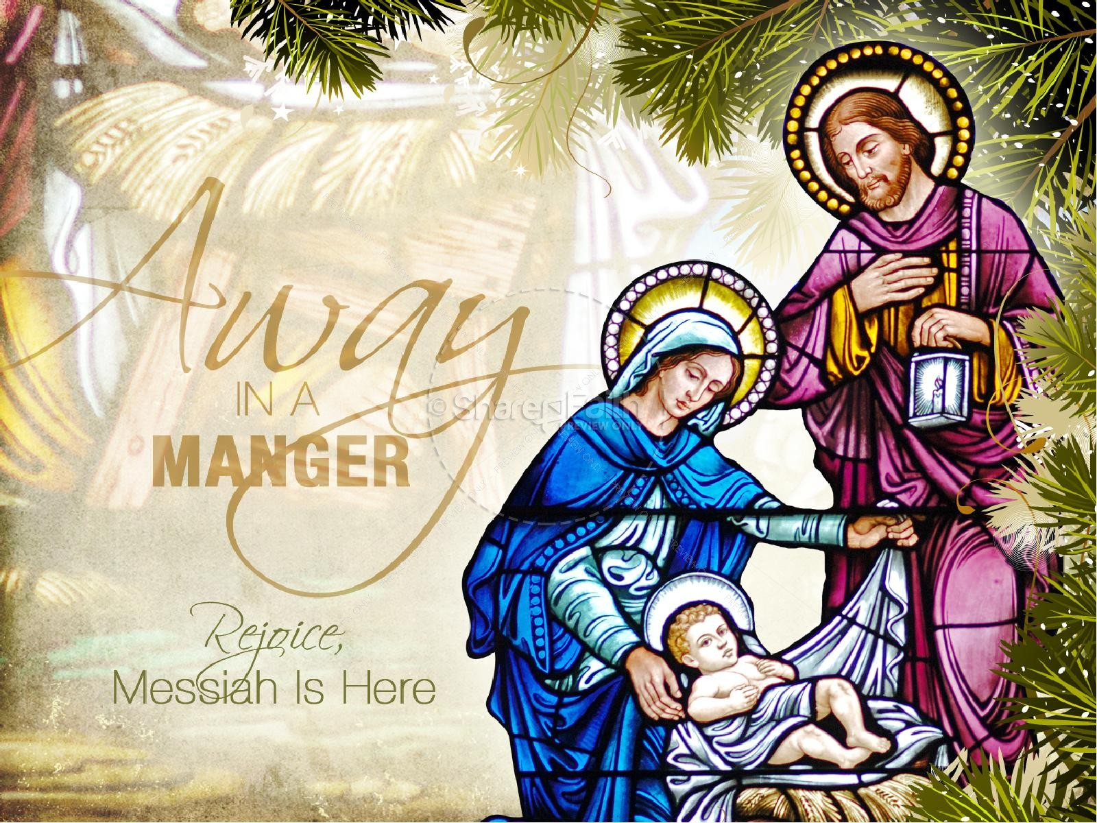 Away In a Manger Church PowerPoint Template | slide 1