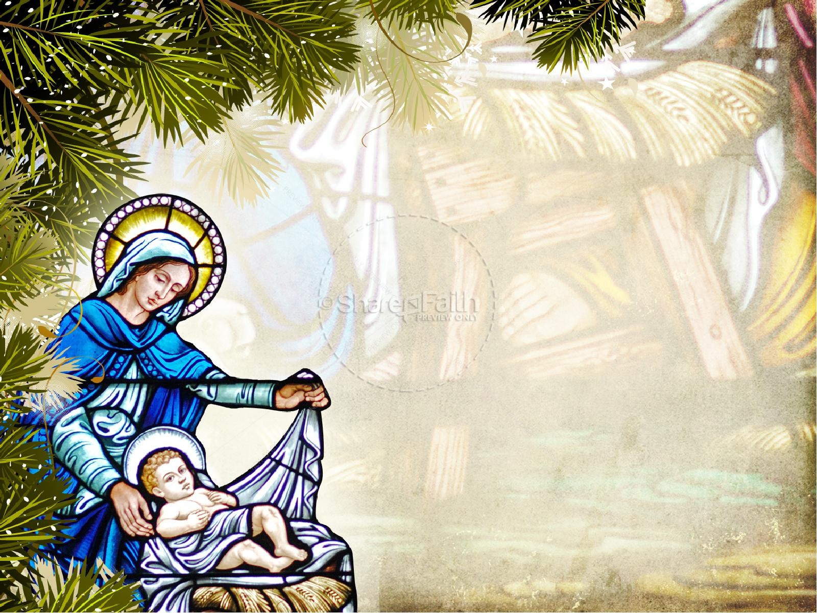 away in a manger church powerpoint template | christmas powerpoints, Modern powerpoint