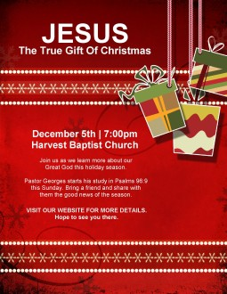 Christmas Gift Church Flyer