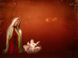 Mary Jesus Worship Background Slide