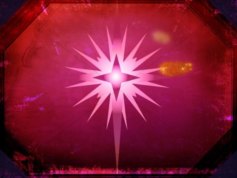 star of bethlehem background worship slide