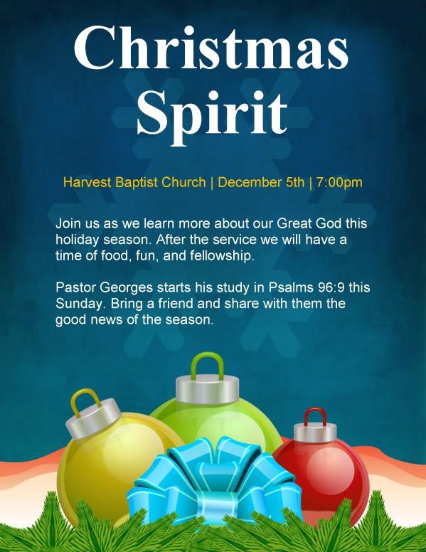 Christmas Flyers For Church