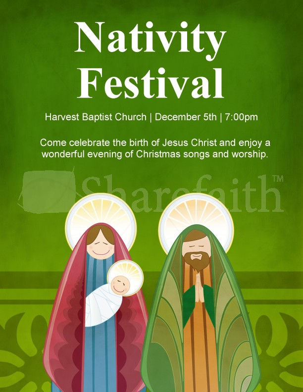Nativity Christmas Flyer Template