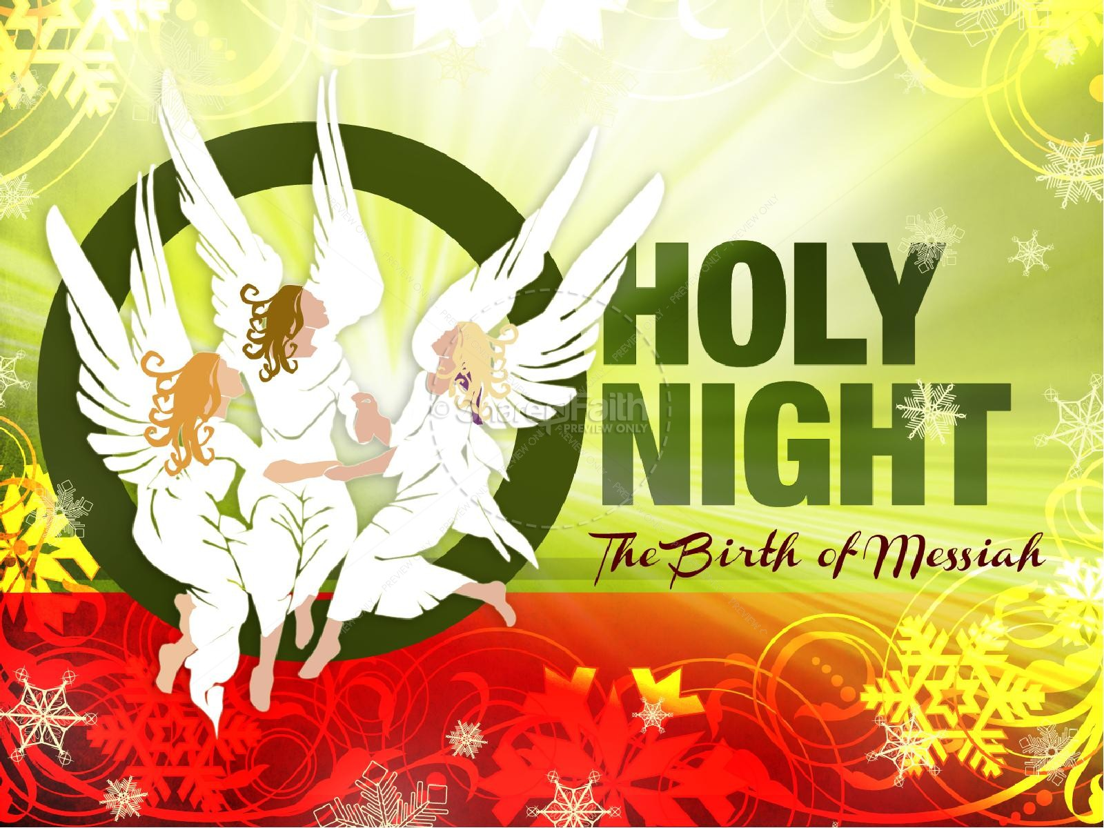 O Holy Night Christmas PowerPoint Sermon | slide 1