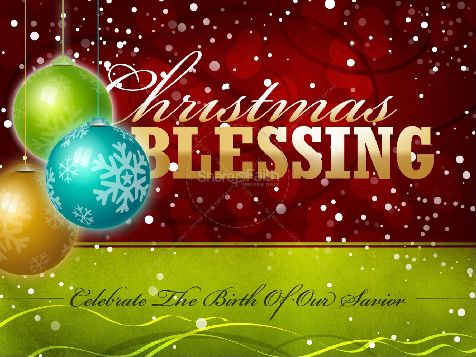 Christmas Blessing PowerPoint