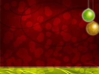 Christmas Ball Deco Worship Background