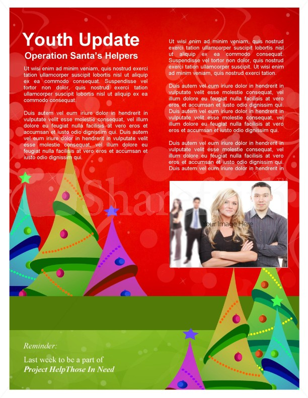 Christmas Tree Newsletter Templates Template