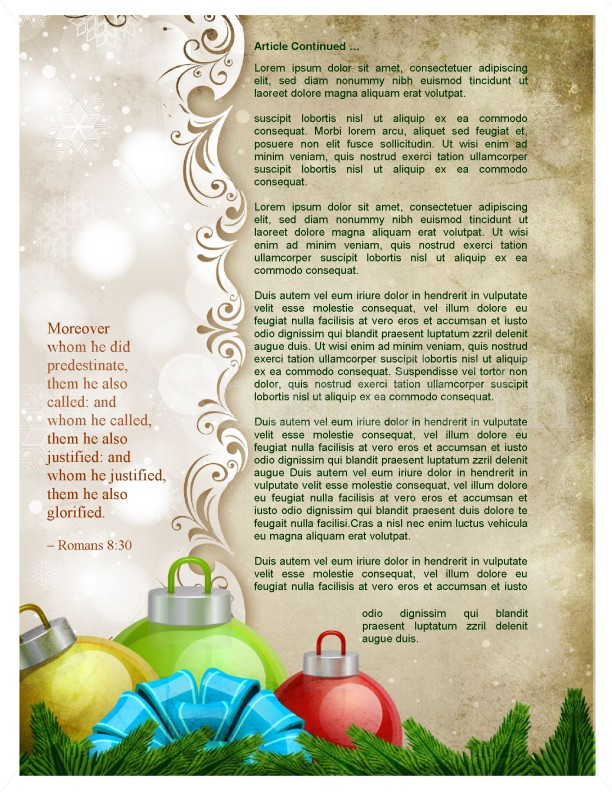 Merry Christmas Newsletter