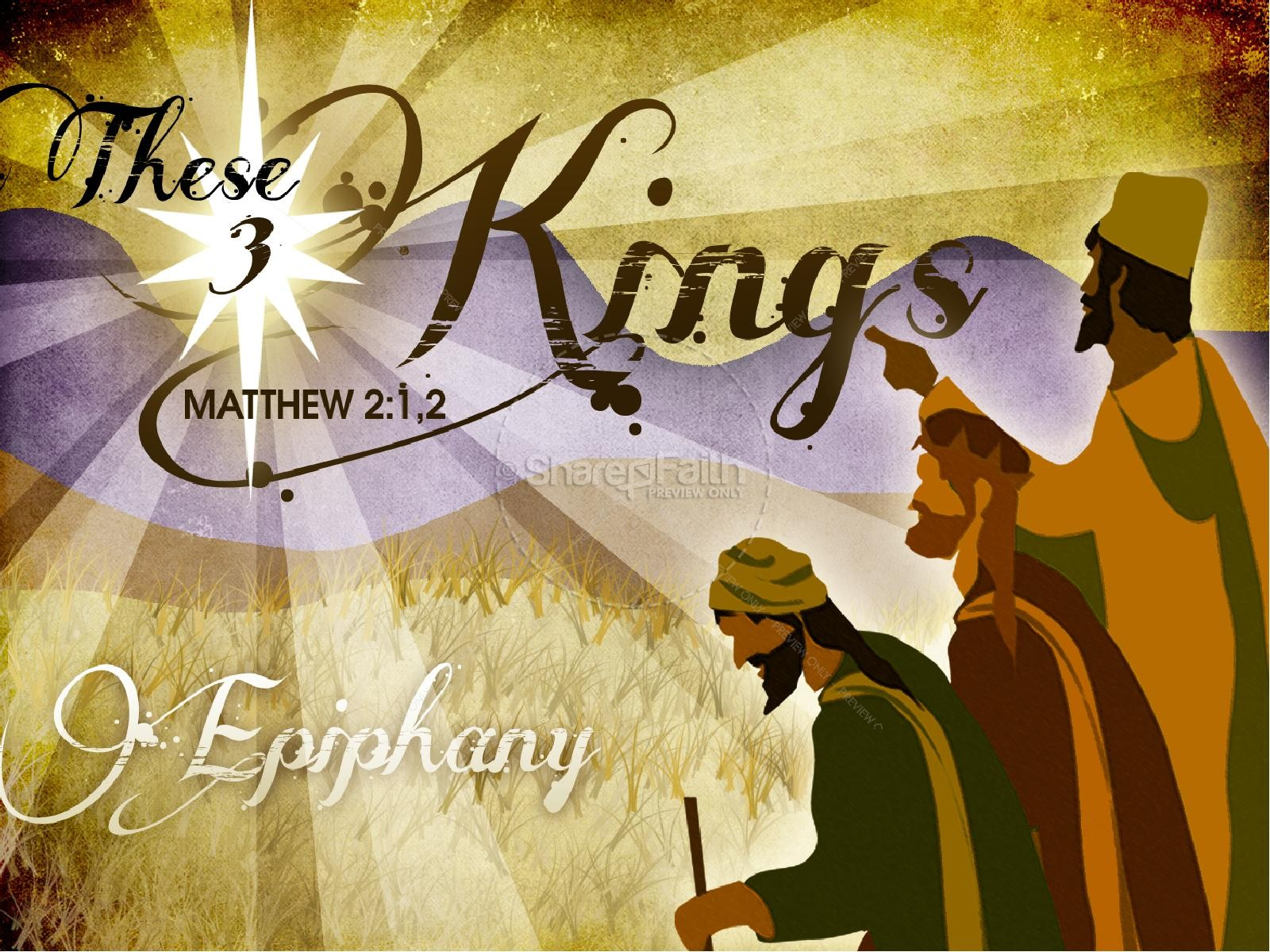 Three Kings PowerPoint Template | slide 1