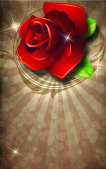 Valentine Rose Bulletin Template