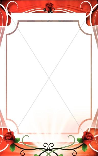 Rose Frame Valentine Bulletin Cover